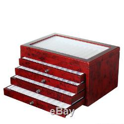56 Fountain Pen Display Box Organizer Wood Storage Collection Tray Case Holder