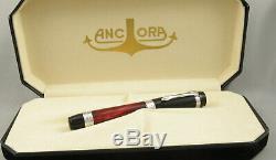 Ancora Perla Prima Red withBlack Cap Limited Edition Fountain Pen In Box 2002 Mint