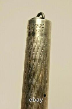 Antique Eversharp Sterling Silver Wahl Pen w 14K Gold Num 2 Wahl Nib Enduro Box