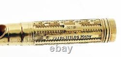 Antique Leroy Fairchild No. 8 14k Yellow Gold Filled Medium NIB Fountain Pen Box