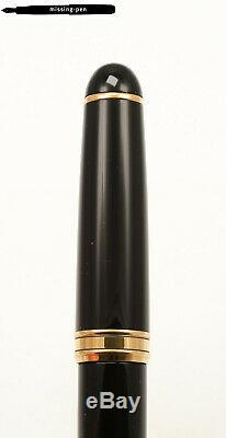 Aurora 88 800 Big Fountain Pen in Black-Gold with 14 K B-nib / original Box