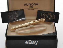 Aurora 88 (802) vintage big size gold fountain pen new pristine in box