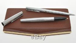 Aurora 98 vintage'60 steel set fountain pen & ballpoint new old stock in box