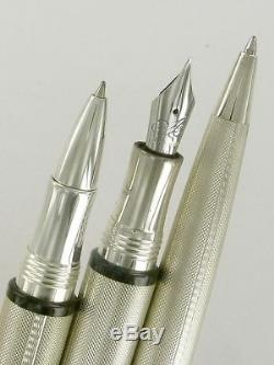 BREGUET PEN SET Fountain Pen, Rollerball, Ballpoint box with Movement Rare