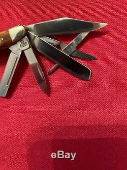 Beautiful Case XX RED STAG 5 Blade 5520 Peanut Knife 1998, NEW RARE. No Box Or Pap