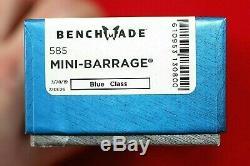 Benchmade 585 Mini Barrage, Osborne Design, Axis Assist 154cm, Knife, New In Box