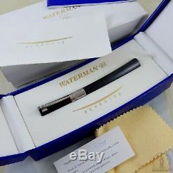 Boxed Waterman Serenite Grey Titanium ST Sample Fountain Pen 18K Fine Nib