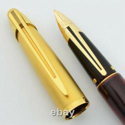 Brand New Waterman Edson Ruby Red 18k Medium Nib Fountain Pen In Original Box