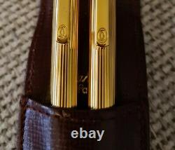 CARTIER ballpoint pen & pencil set, brand-new, boxed with paperwork