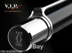 Cartier C-logo Kugelschreiber Lack+palladium Ballpoint Pen Stylo Bille Penna+box