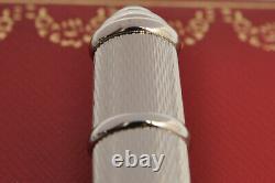 Cartier Diabolo ST180057 guilloche pattern platinum ballpoint NEW in box