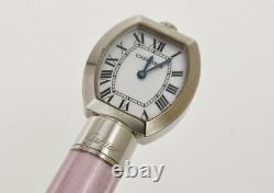 Cartier Limited Edition pink enamel ballpoint pen with built-in watch new in box