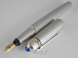 Cartier Pasha Silver Plated Fountain Pen M with Box NEW FREE SHIPPING WORLDWIDE