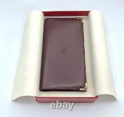 Cartier genuine leather Notes sheets & banknote holder New Old Stock in box