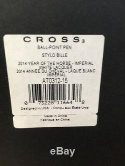 Cross 2014 Year Of The Horse White Lacquer Ball Point- FANCY BOX