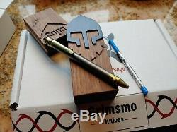 Grimsmo Knives Saga Pen # 223 Brand New In Box Gold & Titanium