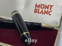 Immaculate 1960's MONTBLANC MASTERPIECE No 149 -PLASTIC PISTON-EF 18C NIB-Box