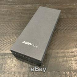 Lamy 2000 Fountain Pen Stainless Steel Fine Point L02F New in Lamy Box