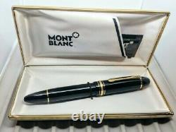 Late 80s Montblanc 149, 14K Two Tone nib, in box with original Warranty card