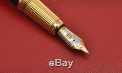 Louis Cartier ST170039 Black Composite & Gold fountain pen new in box