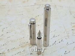 Lovely Mint Caran D'Ache Ecridor Cubrik Rhodium Fountain Pen Fine Nib Box