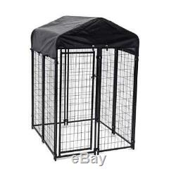 Lucky Dog Uptown 4 x 4 x 6 Foot Covered Dog Kennel Cage Pen (Open Box)