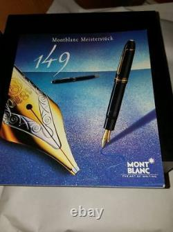 MONTBLANC MEISTERSTUCK NO. 149 GOLD SILVER FOUNTAIN PEN NEW IN BOX Medium + INK