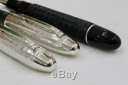 Mint & Boxed Omas S2001 Ogiva Fountain Pen & Ballpoint Sterling Silver Guilloche