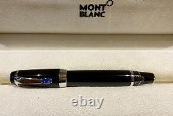 Mont Blanc Boheme Blue Fountain Pen Nib 14k, Black & Silver, In Original Box