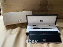 Mont Blanc Meisterstuck Pix Black & Silver Ballpoint Pen NEW In Box