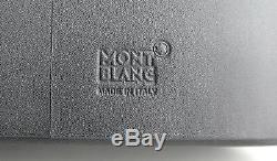 Montblanc 114515 Meisterstuck Gray Sfumato Leather 3 Pen Hard Case New Box Italy