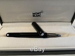 Montblanc M Black Ballpoint Pen Magentic Cap 113620 New in Box