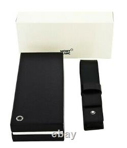 Montblanc Meisterstuck 14309 Siena One Pen Pouch Black Italian Leather New Box