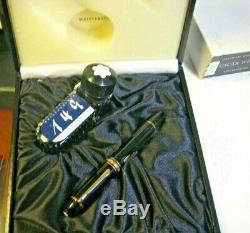 Montblanc Meisterstück 149 Fountain Pen Gold Nib Fine with Ink Bottle Gift Box