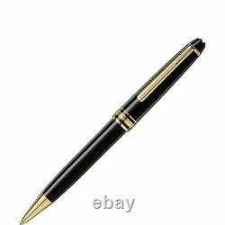 Montblanc Meisterstuck Black Ballpoint Pen 10883 in Gold Trim in box New. SALE