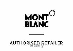 Montblanc Rollerball Black Gold Trim 163 12890 Authentic pen box and papers