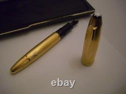 Montblanc Solitaire Fountain Pen Med Pt 146V Vermeil Barley Legrand New In Box