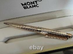 Montblanc Solitaire Vermeil Pinstripe Gold Rollerball Pen New In Box 164vp
