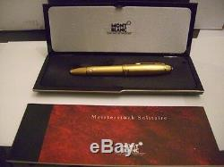 Montblanc Solitaire146V Vermeil Barley Legrand Fountain Pen Med Pt New In Box