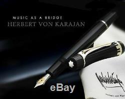 Montblanc Special Edition Herbet Von Karajan Fountain Pen & Scarf New In Box