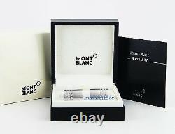 Montblanc St. Steel 3 Rings Pave Diamond Cufflinks New Box Germany 102693 $2.435