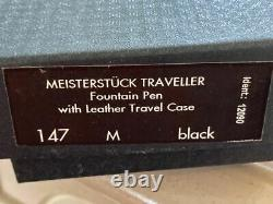 Montblanc Traveler 147 Fountain Pen New In Box With Leather Case