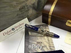 Montegrappa La Sirena limited edition silver fountain pen + all boxes