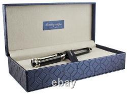 Montegrappa Nerouno Grande Black Resin Fountain Pen, Fine Nib, New In Box