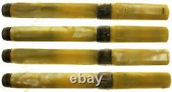 Montegrappa Symphony Parchment Celluloid Fountain Pen 925 Trim 18K Broad Nib Box