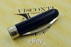 NEW + BOX Visconti Rembrandt Blue & Palladium Trim Fountain Pen
