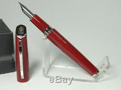 NOS Italian VISCONTI PINAFARINA fountain pen red M nib & converter in box