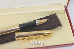 NOS Parker 75 PRESIDENTIAL Fountain Pen 14K SOLID GOLD Boxed 14K Med nib
