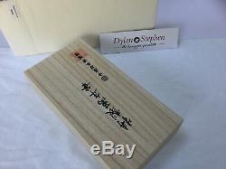 Nakaya Aka Tamuneri Urushi lacquer desk fountain pen 14K fine nib + box NEW