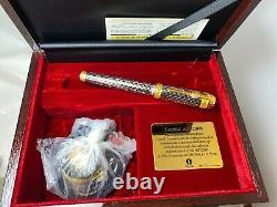 Namiki Jubilaeum AD 2000 Lattice Ruthenium Fountain Pen 18K Med Nib Boxed NEW